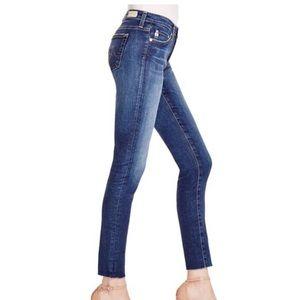 AG Legging Ankle Jeans with Raw Hem